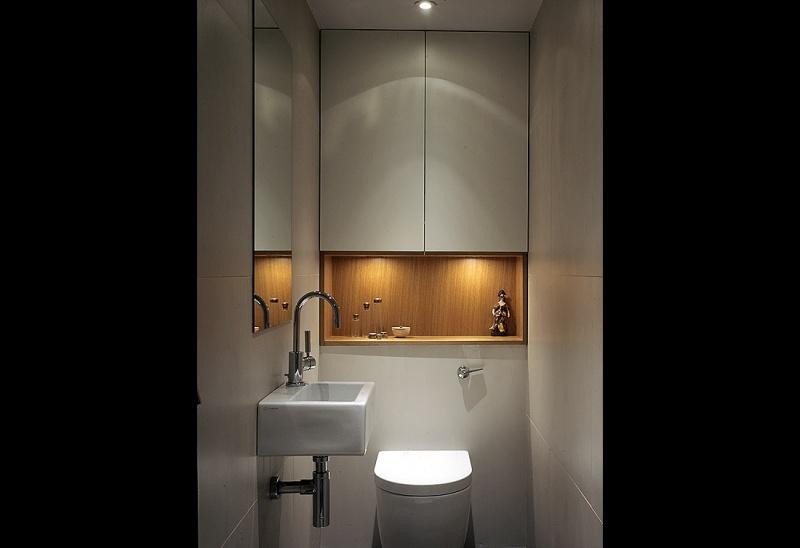 Picture of storage niches in bathroom for Bathroom niche design