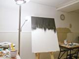 Striking Siy Black And White Painting