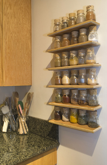 Stroring Spices On A Wall