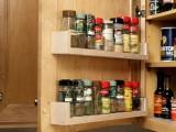 Stroring Spices On Cabinet Door