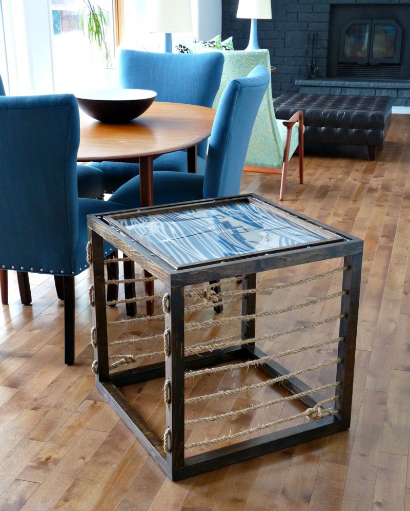 Picture Of stunning diy nautical inspired accent table  1