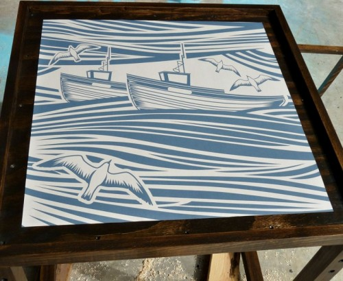 Stunning DIY Nautical Inspired Accent Table
