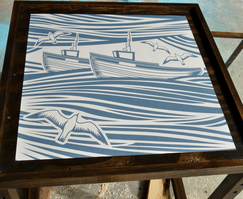 Picture Of stunning diy nautical inspired accent table  7