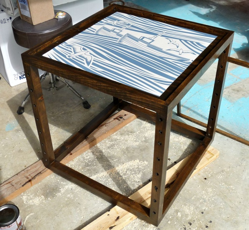 Picture Of stunning diy nautical inspired accent table  8