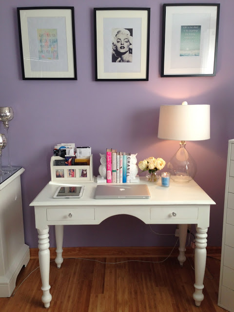 white shabby chic desk (via theglamvice)