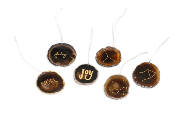 Picture Of stylish and durable diy gilded agate ornaments  8