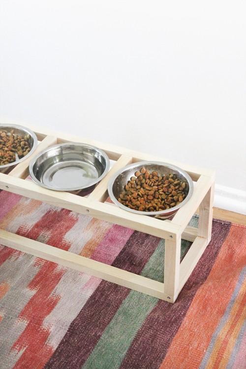 Stylish And Modern Diy Pet Bowl Stand