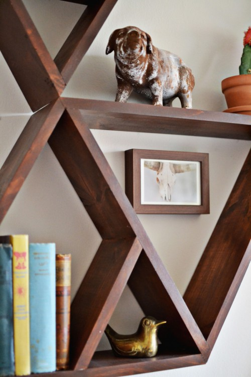 Stylish And Original Diy Triangle Shelf Shelterness