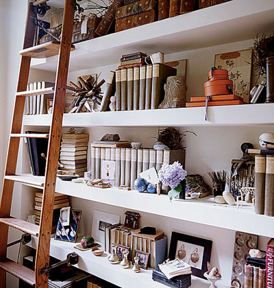 Stylish Built In Shelves With A Lot Of Things