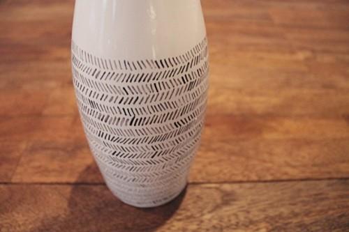 Stylish Diy Black And White Vase