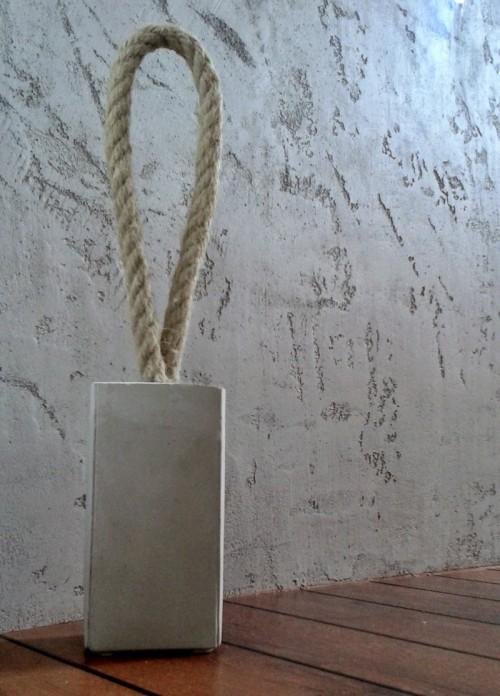 Stylish Diy Concrete Door Stoppers