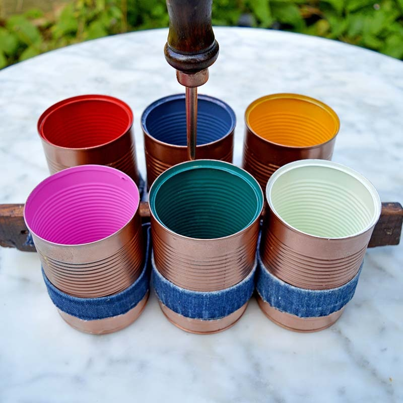 Picture Of stylish diy copper and denim craft caddy  6