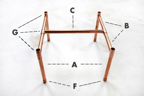 Stylish DIY Copper Pipe Side Table