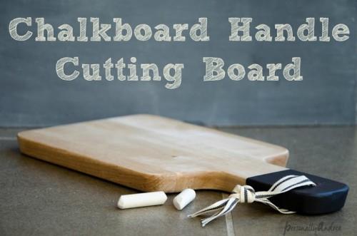chalkboard handle cutting board (via personallyandrea)