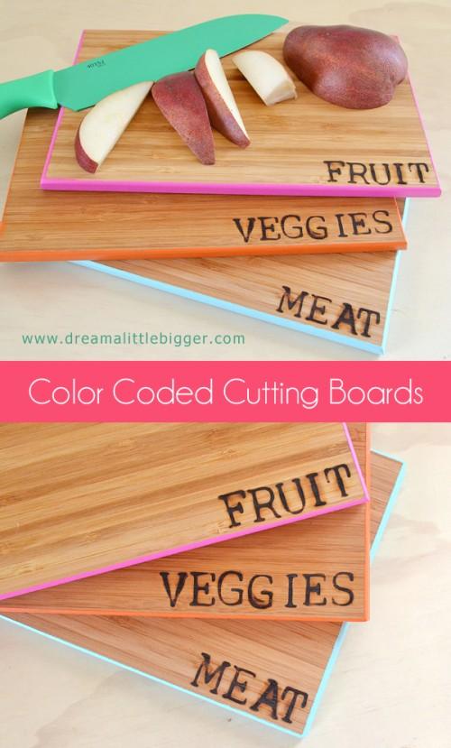 color coded cutting boards (via dreamalittlebigger)