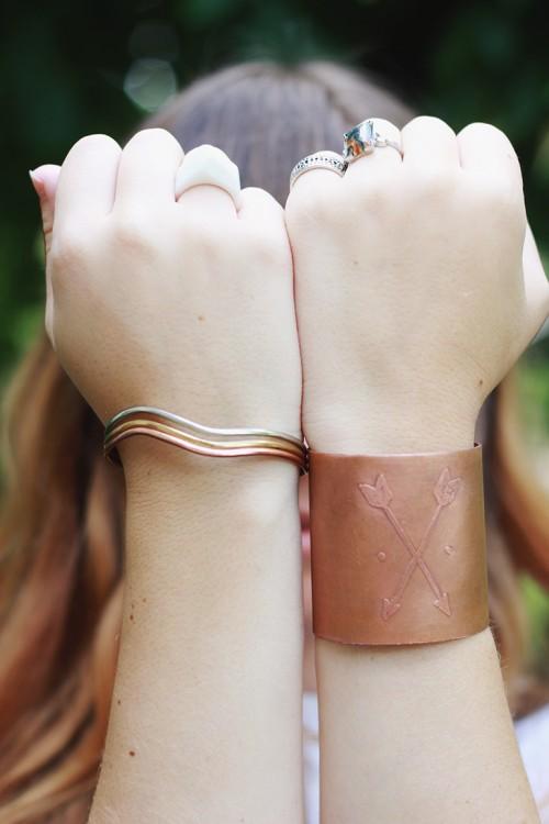 Stylish Diy Etched Copper Cuff