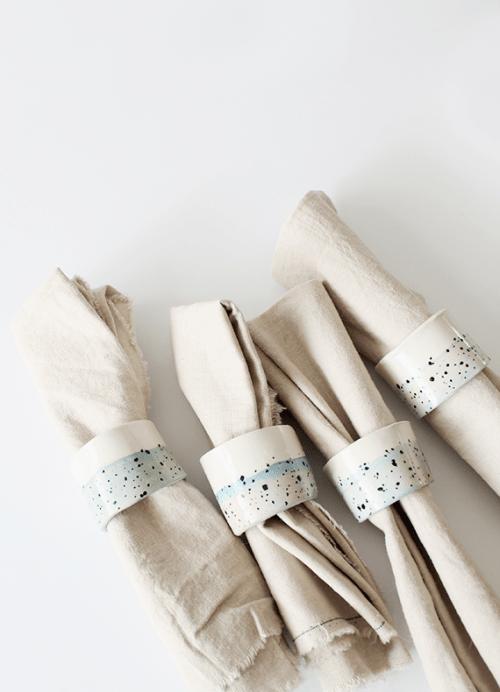 Stylish DIY Faux Ceramic Napkin Rings