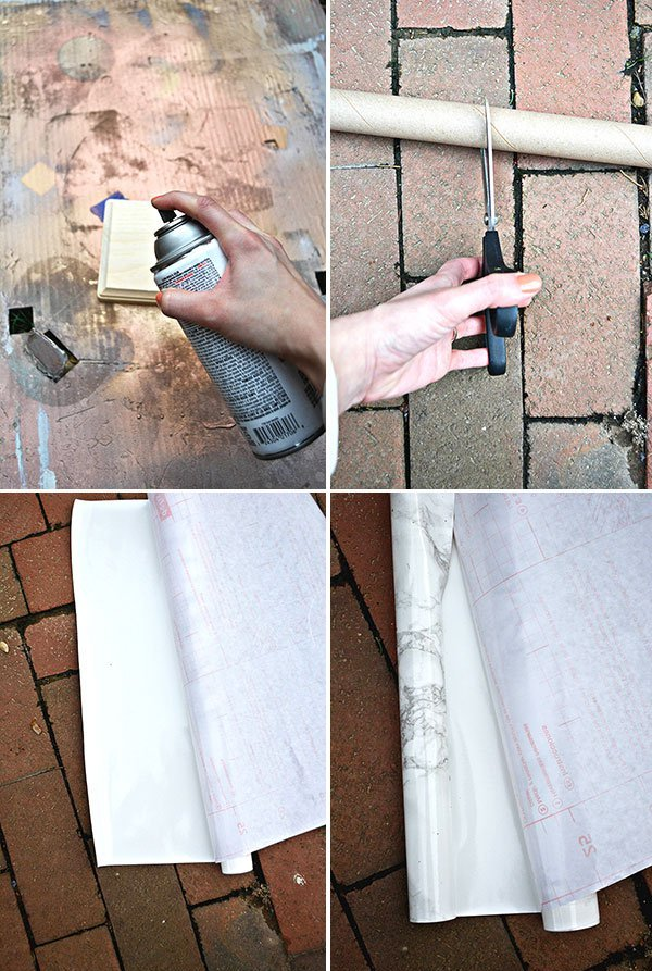 Picture Of stylish diy faux marble table lamp  2