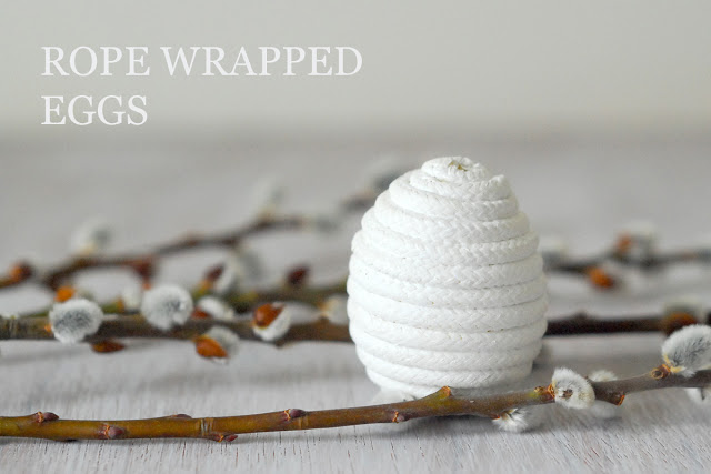 white rope wrapped eggs