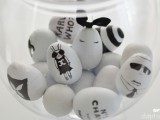 fashionable black and white eggs