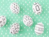 sharpie-decorated eggs