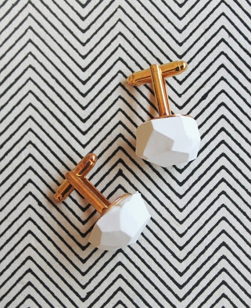 Stylish Diy Geo Cufflinks