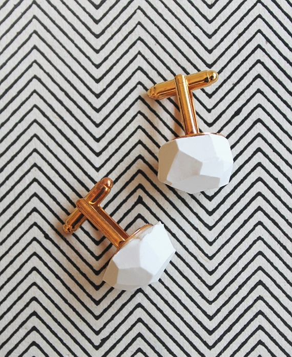Stylish DIY Geo Cufflinks