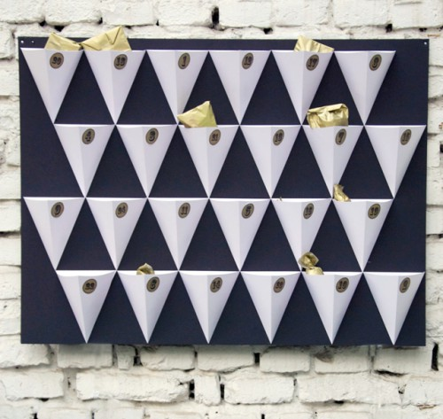 Stylish DIY Geometric Advent Calendar