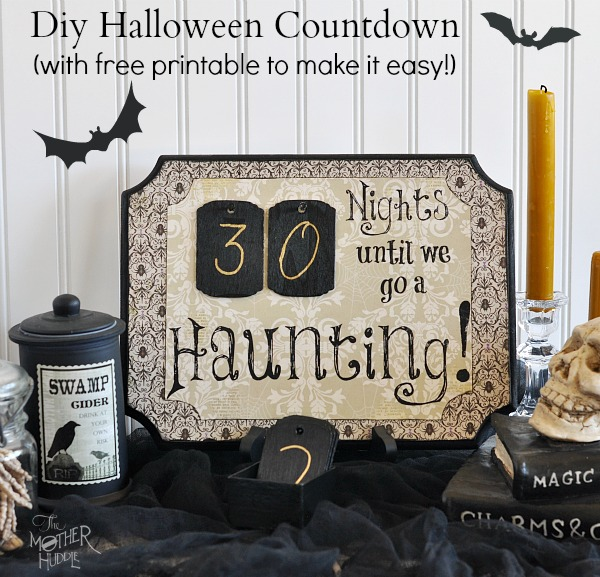 Stylish Diy Halloween Countdown