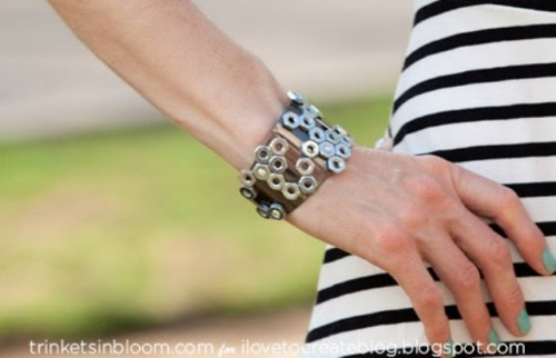 Stylish DIY Hex Nut Cuff