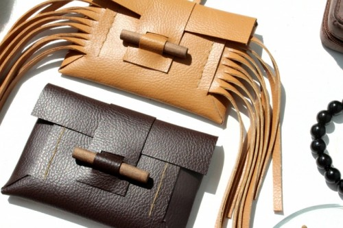Stylish DIY Leather And Wood Card Holder