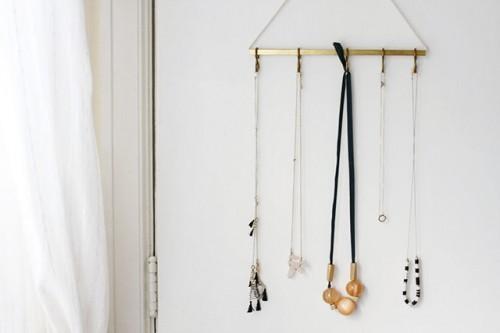 Stylish DIY Minimal Brass Jewelry Hanger