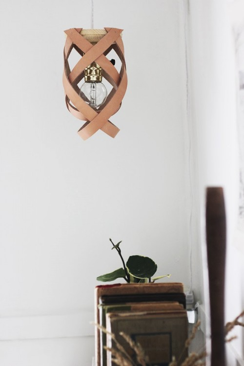 Stylish DIY Leather Pendant Lamp