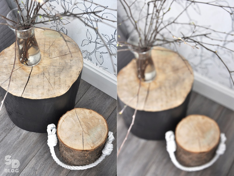 Picture Of stylish diy stump bedside table in 2 versions  2