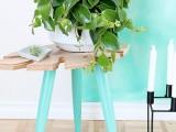 stylish-diy-tropical-leaf-side-table-1