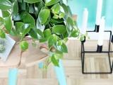 stylish-diy-tropical-leaf-side-table-8