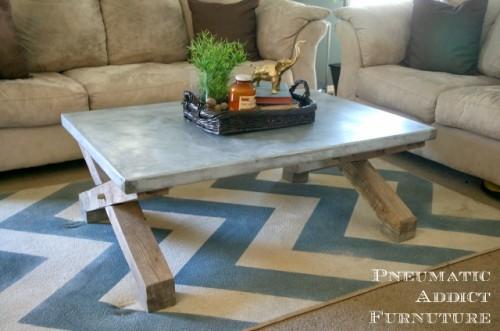 Stylish Diy Zinc Top Coffee Table Shelterness
