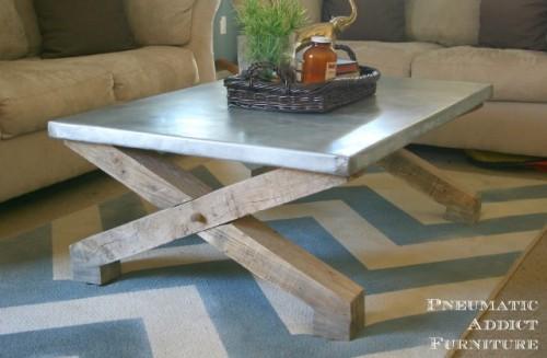 Stylish Diy Zinc Top Coffee Table