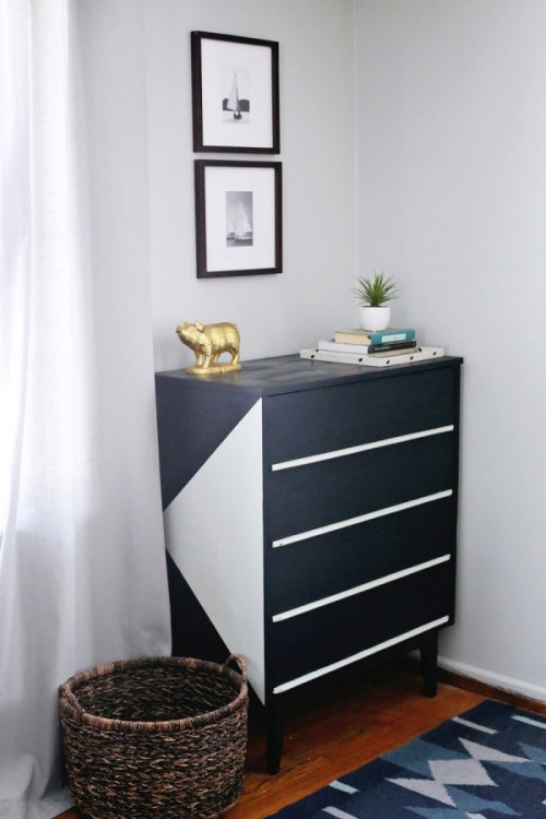 Stylish Modern DIY Painted Dresser Makeover