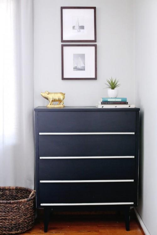 Stylish Modern DIY Painted Dresser Makeover