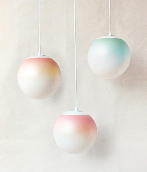 delicate ombre pastel lamps