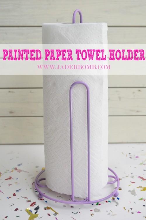 pastel towel holder