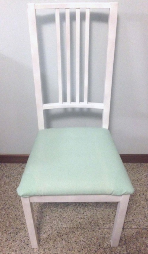 mint chair makeover (via homeanddecor)