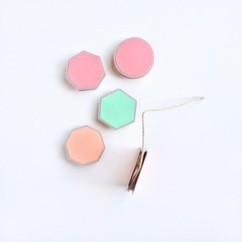 pastel geometric coasters