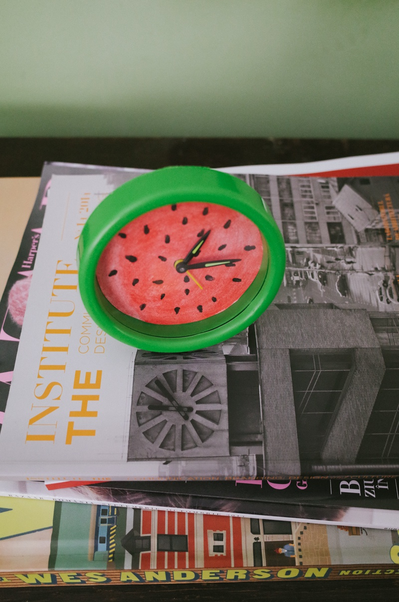 Picture Of summer inspired diy watermelon alarm clock  5