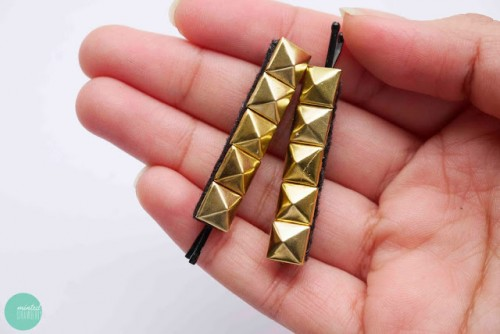 pyramid stud hairpins (via mintedstrawberry)