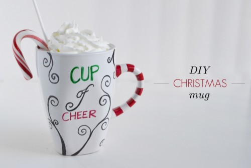 cup of cheer personalized mugs (via sparkandchemistry)
