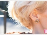 stud rhinestone earrings