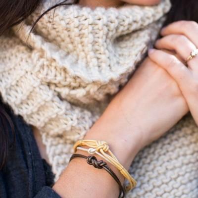 leather bracelet (via henryhappened)