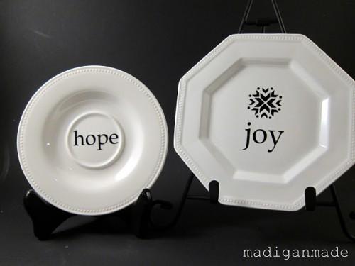 decorative holiday plates (via madiganmade)